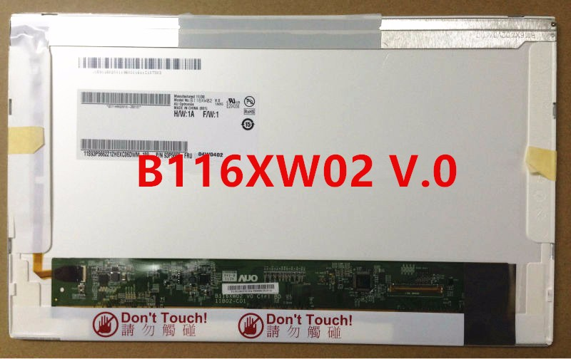 цена на free shipping 11.6 Laptop LCD Screen LED  N116B6-L02 LTN116AT01 B116XW02 LP116WH1 TLN1 For Acer Aspire 1410 1551 1810T 1810TZ