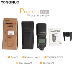 YONGNUO YN600EX-RTII 2.4G Wireless HSS 1/8000s Master Flash Speedlite for Canon Camera 1300D 6D 5D3 5D2 as 600EX-RT YN600EX RT