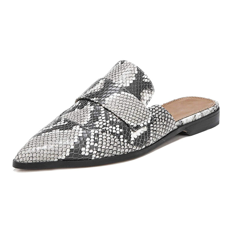 Women/'s Slip On Pointed Toe Ladies Gladiator Retro Casual Loafers Flat Shoes
