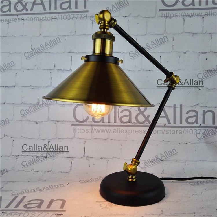 EDISON ЛАМПЫ 60 Вт собраны бронза железа таблице освещения 1.8 м провода с выключателем и подключите рядом с лампы для изучения номер в отеле Деко...