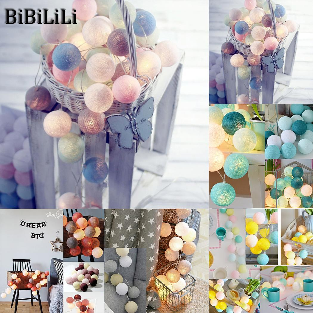 battery 3 pcs AA Decor Fairy Lights Cotton As String LED EU Wedding AC Home Lamp Party 220V Garden x Ball Picture woodpow 3m 20led cotton ball string lights multicolor fairy light eu 220v ac