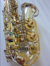 Alto Saxophone Eb High quality silver plated Sax  R-54 high grade musical instruments Hard box Real picture Free shipment