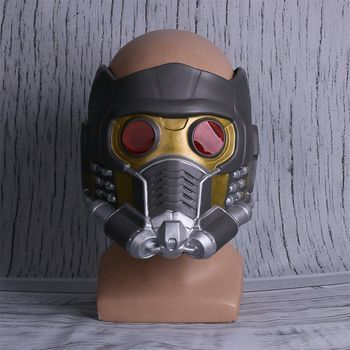 Movie Guardians Of The Galaxy Star Lord Infinity War Cosplay Costumes LED Lights Helmet Latex Mask Prop Superhero