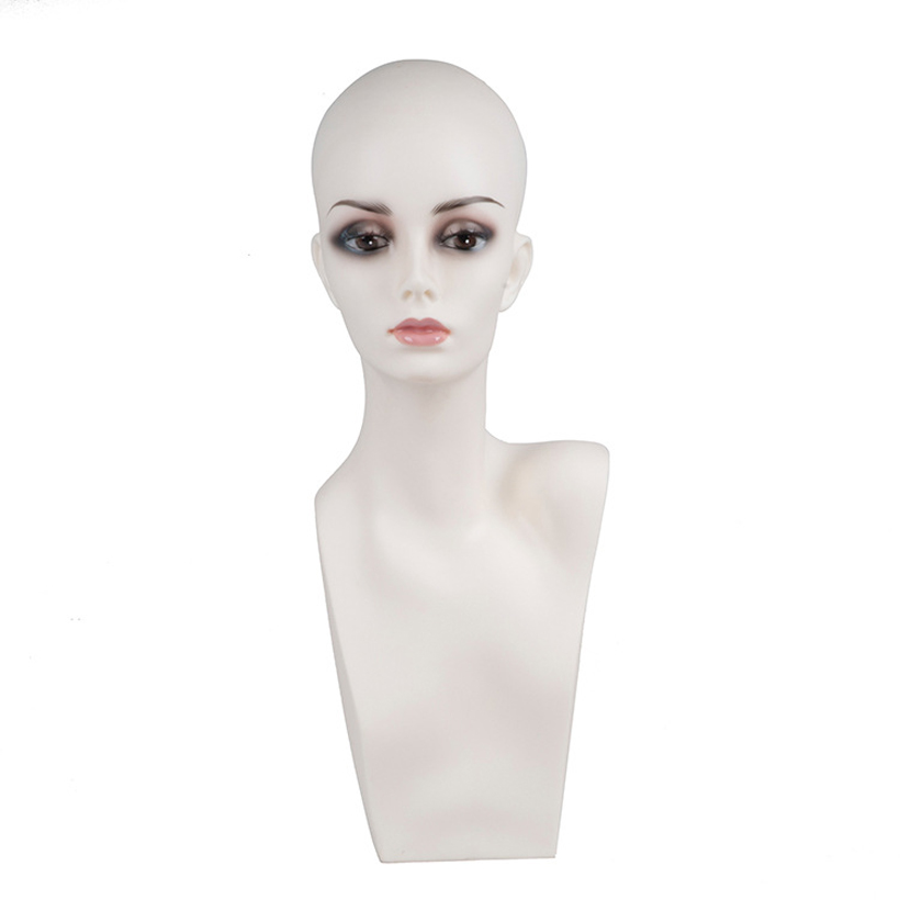 New free shipping Female Mannequin Head Wigs Hats Cap Headphone Display maniqui Model For Hair Jewellery Display Stand PDHA
