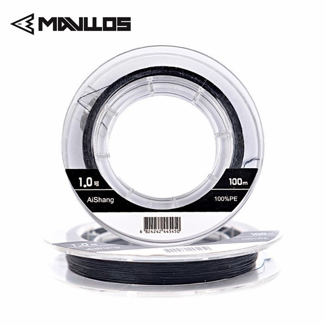 Best Offers Mavllos 100M Fishing Fire Line Better Cut Water Strong Smooth PE Fishing Lines MONO Process Producing Floating Line