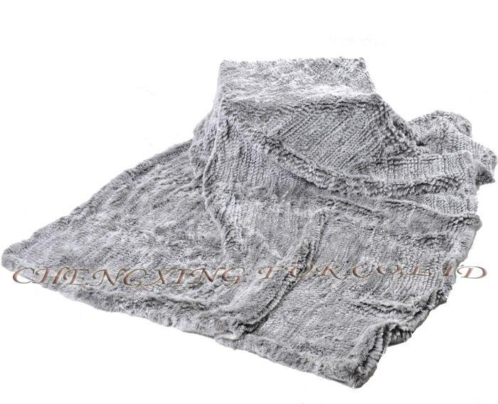 CX-D-92 tricot Style véritable Rex fourrure de lapin couverture tapis de jeu tapis de zone en gros jeter des couvertures pour les lits
