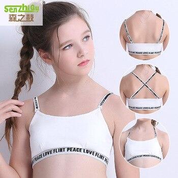 d44f2cb92 Roupa nova Menina Sutiãs de Treinamento Adolescentes Puberdade Young Meninas  Esporte Crianças Algodão Roupa Interior Camisole Vest Roupa do Estudante