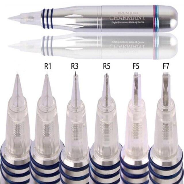 Sıcak item50pcs Spiral tek vidalı dövme İğne kartuşları için Charmant kalıcı makyaj dövme makinesi 1R/3R/5R/7R/3F/5F/7F