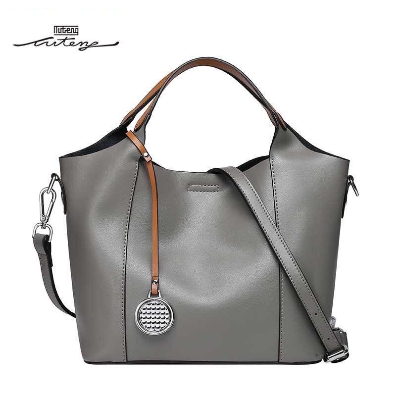 TU-TENG 2018 Handbags For Women Luxury Atmospheric Simple Solid Hand Bag Casual Style Leather Tassel Woman Handbag G88870
