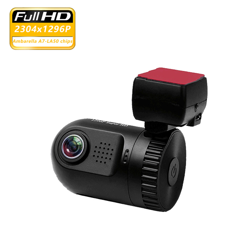 Mini voiture DVR HD 1296 p enregistreur vidéo Ambarella A7 puce Dash caméra 1.5
