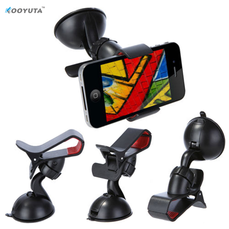 2PCS Universal 360 degree spin Car Windshield Mount cell mobile phone Holder for iPhone 6 7 For Samsung Smart Phone