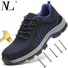 Для мужчин безопасная обувь дышащие летние Для женщин и Для мужчин шоссе анти-разбив пирсинг Для мужчин сетки Рабочая обувь Сталь носком