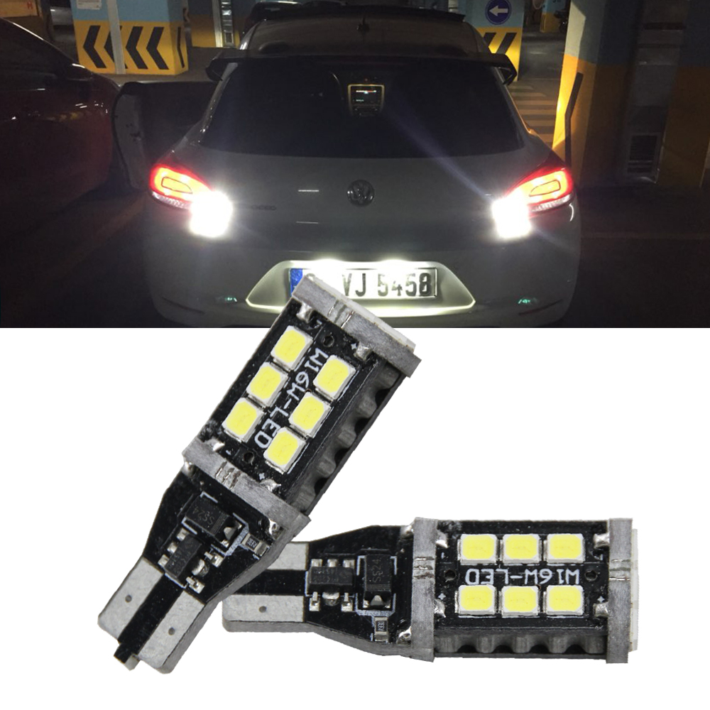 2x T15 W16W LED CANBUS 2835 Chip High Power Backup Reverse Light for VW Tiguan Sharan Scirocco Skoda Superb Car Light Source