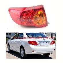 MIZIAUTO 1PCS Rear Tail light Outer for 2008 2009 2010 Toyota Corolla Warning Light Brake Bumper Stop Lamp