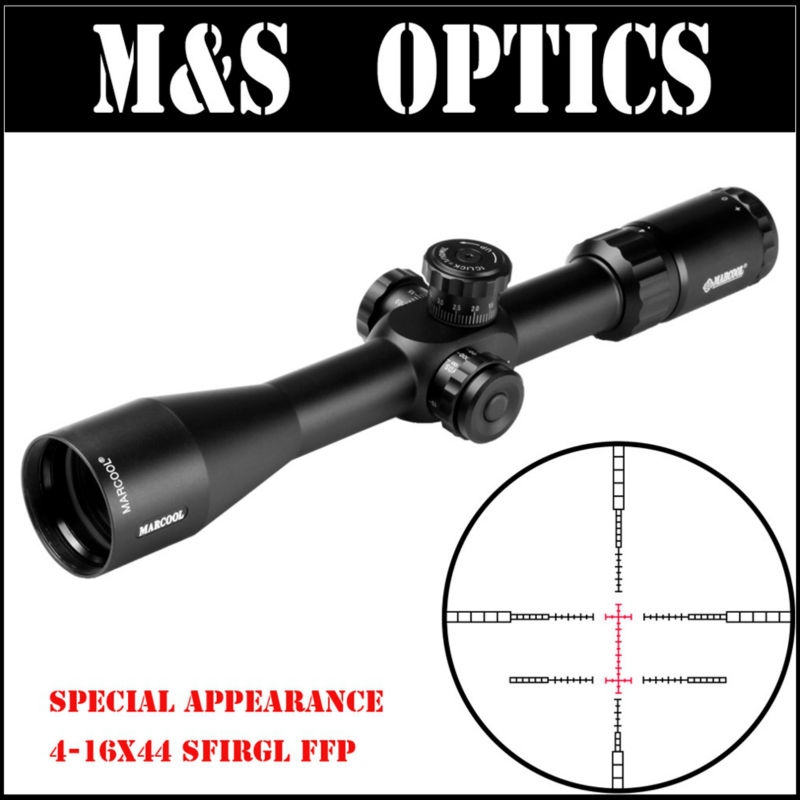 MARCOOL Optical Sight EVV 4-16X44 SFIRGL FFP First Focal Plane Hunting Optic Sight Rifle Scope Tactica Gun Riflescope For Adults marcool evv 6 24x50 sfirgl first focus plane tactical rifle scope