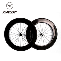 Factory Price 88mm Clincher Tubular Carbon Fiber Road Bike Wheels Bicycle Carbon Wheelset 700c THRUST 125psi