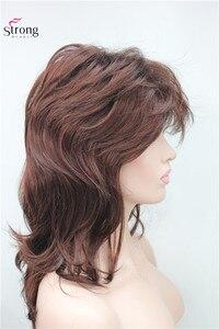 Image 5 - ארוך שאגי שכבות כהה ערמוני קלאסי כובע מלא סינטטי פאה נשים פאות צבע אפשרויות