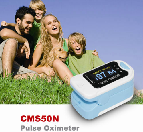 Ամենաթարմ OLED CMS50NA մատների հուշում զարկերակային օքսիմետր Արյան թթվածին Spo2 Pr + անվճար պատյան
