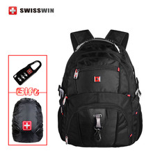 Swisswin mochila style Backpack SW 8112 I Waterproof Backpack Large Capacity 16,5″ Laptop Bag male Bagpack Rucksack Black