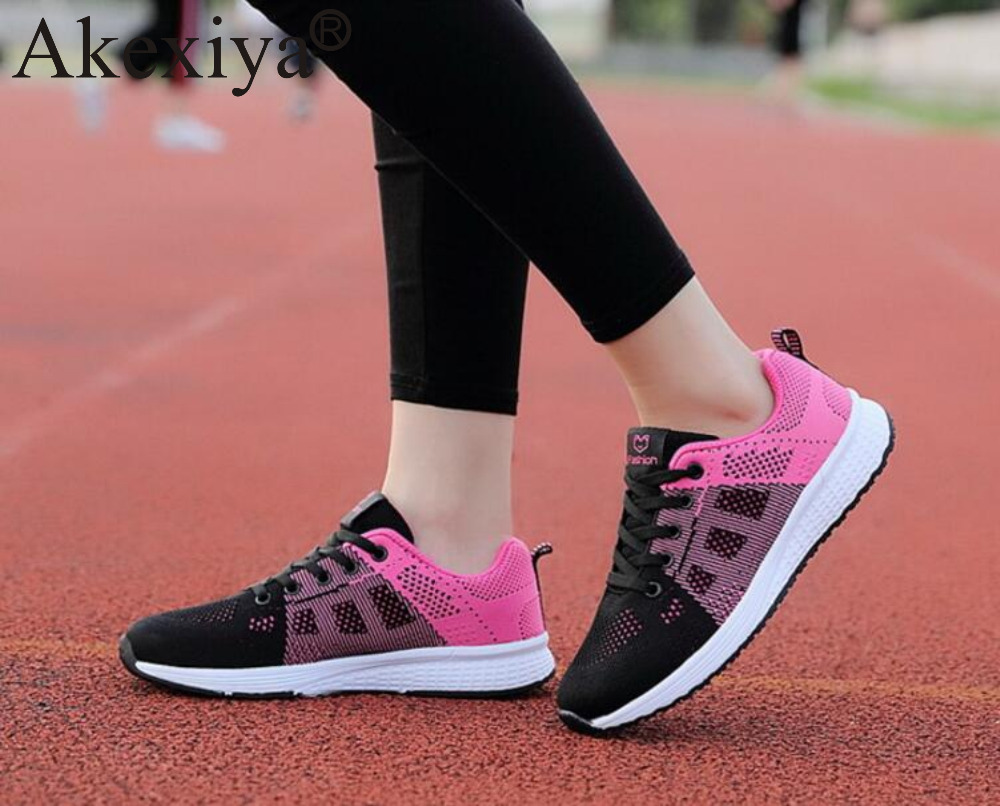 Akexiya Summer Sneakers Ladies Lightweight Outdoor Jogging Shoes Quazapatos Para Correr Women's Breathable Running Sport Shoes 1