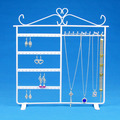 Wholesale High Quality White Metal Necklace Earring Set Display Stand Holder Big Size