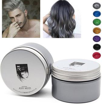 المتناثرة نمط التصميم الفورية الشعر اللون المراهم الشموع الطين المتاح النمذجة صبغ كريم الشعر طين شمعي ملون للشعر قابل للغسل
