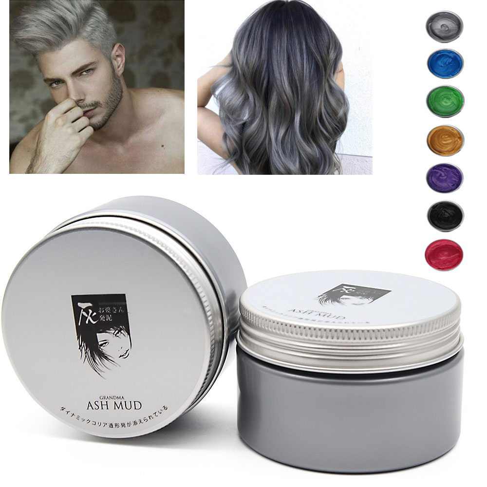 Harajuku Style Styling Instant Hair Color Pomades Waxes Mud Disposable Modeling Dye Cream Hair Color Wax