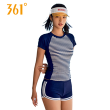 361 Women Swimwear Sport Two-piece Suits Striped Female Swimsuits Summer Pool Swimming for Girl Hot Spring Bathing