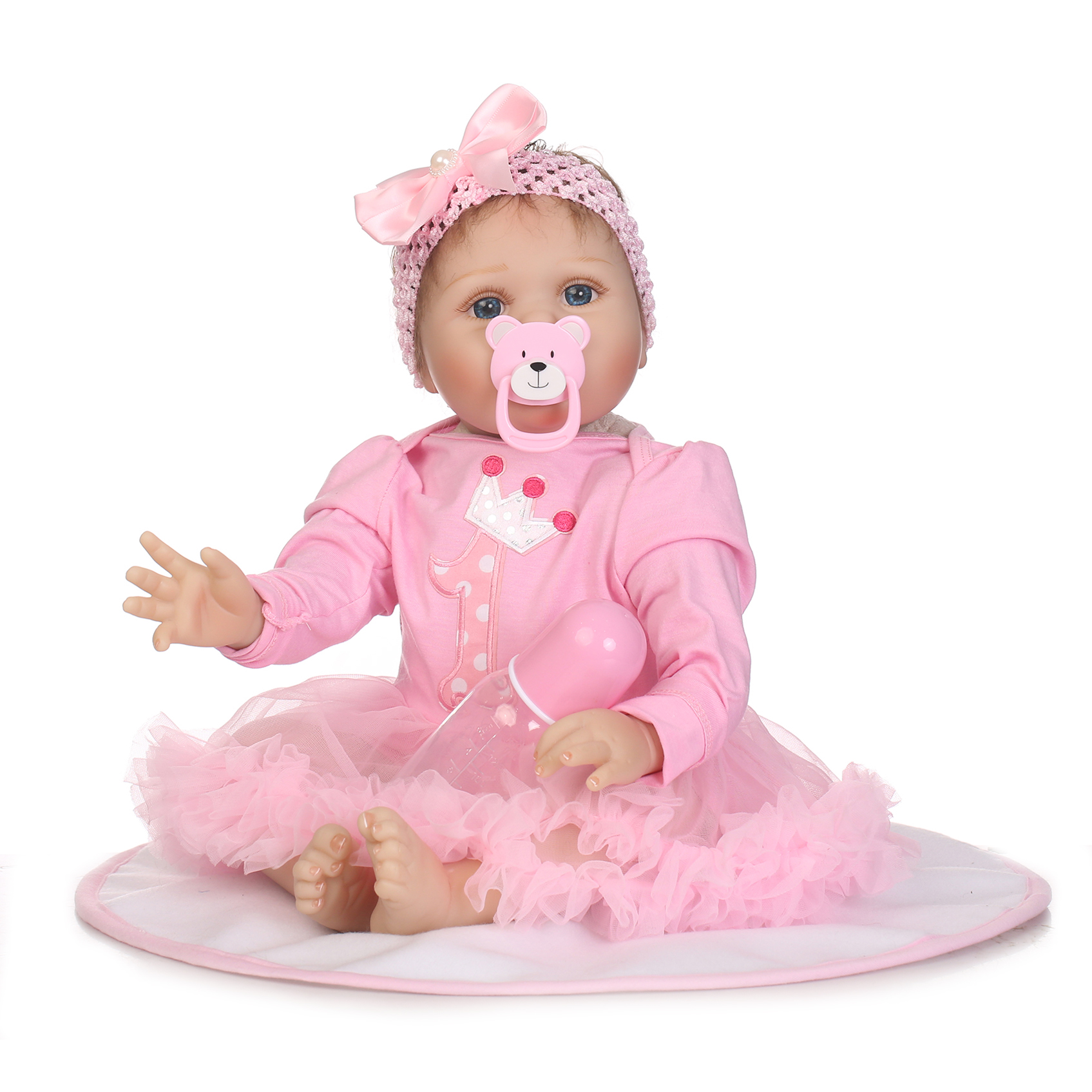 22 55cm Reborn Doll Soft Real Gentle Touch Realistic Rooted Mohair Handmade Doll Toys for Girls XMAS Birthday New Year Gift new fashion design reborn toddler doll rooted hair soft silicone vinyl real gentle touch 28inches fashion gift for birthday