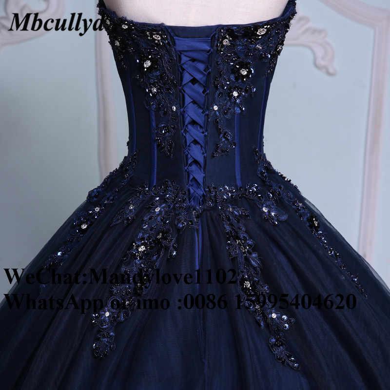パフィーボールガウン大人のドレス 2020 紺女の子ビーズの仮装甘い 16 ドレスプラスサイズvestidosデ 15 各公報