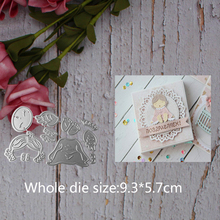 cute Sleeping angel child Metal steel frames Cutting Dies DIY Scrap booking Photo Album Embossing paper Cards9.3*5.7cm