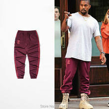 Фотография 2017 Newest Kanye West Season 4 Crewneck Sweatpants S-3XL CALABASAS Pants Men loose Joggers Comfortable Elastic Pants