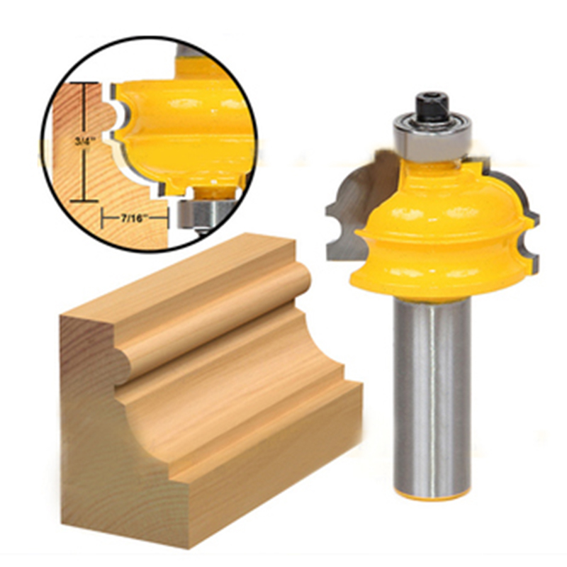 New 1/2'' Shank Router Bit High Quality Cabinet Door Line Woodworking Cutter Tool best price mgehr1212 2 slot cutter external grooving tool holder turning tool no insert hot sale brand new