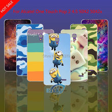 Para Alcatel One Touch Pop 2 4.5 5042 5042X 5042D 5042E caso Do Crânio Do Leopardo Gato Flor de Lótus Íris Hard Caso de Telefone Celular