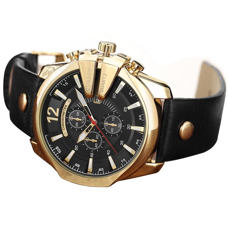 CURREN Men's Sports Quartz Watch Men Top Brand Luxury Designer Watch Man Quartz Gold Clock male Fashion Relogio Masculino Date