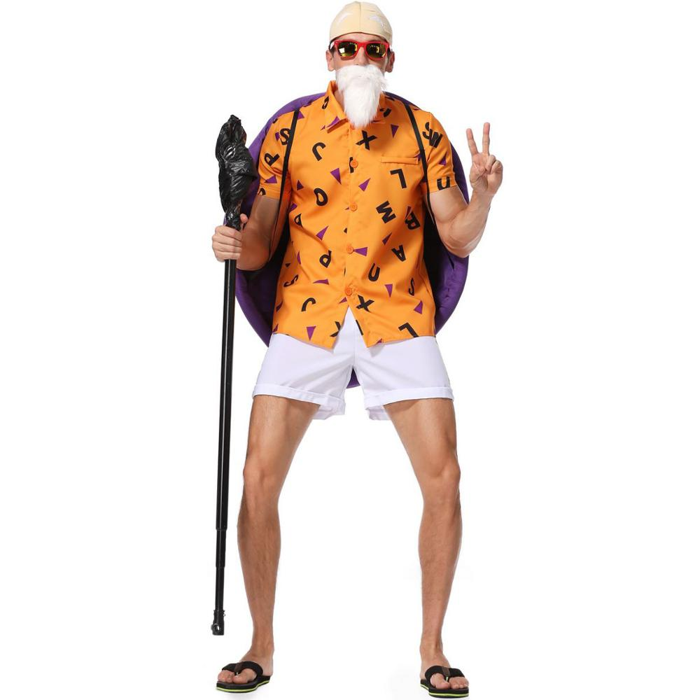 Japanese Anime Dragon Ball New Arrival Cosplay Master Roshi Halloween Clothing Adult Costume For Man
