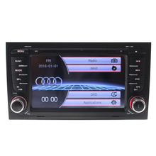 Free map Capacitive screen 2 din Car radio for Aud iA4 CAR DVD PLAYER Multimedia GPS SWC RDS USB AM  car steer wheel control