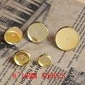100 шт. 8 / 10 / 12 / 14 / 16 мм латунь золотой цвет круглый стад серьги камея кабошоны настройки аксессуары базу