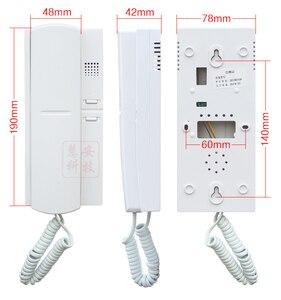 Image 4 - XinSiLu 3 דלת 8 דירות אודיו דלת טלפון, לחץ חיוג ישיר ללא חזותי בניין אינטרקום מערכת, מזהה כרטיס וסיסמא בפתיחת