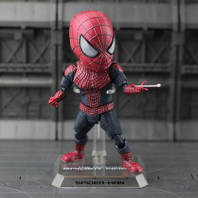 Egg Attack The Amazing Spider-man 2 Spiderman EAA-001 PVC Action Figure Collectible Model Doll Toy 17cm KT3634 free shipping 6 spider man the amazing spiderman boxed 15cm pvc action figure collection model doll toy gift figma 199