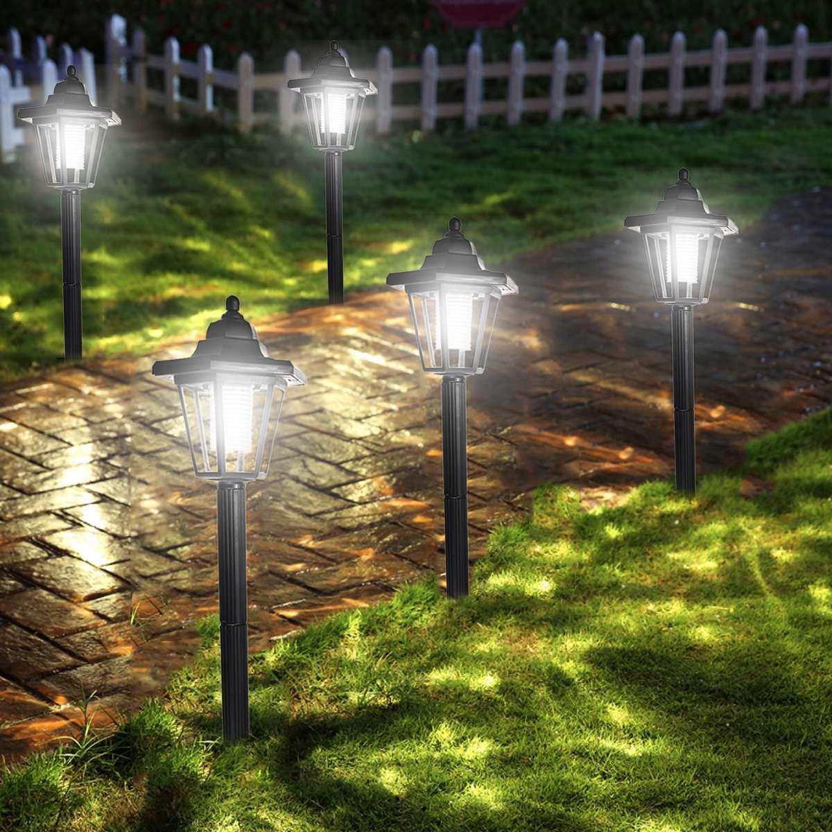 Solar Power LED Path Way Outdoor Wall Landscape Mount Garden Fence Lamp Outdoor Lawn Light Garden Street Light