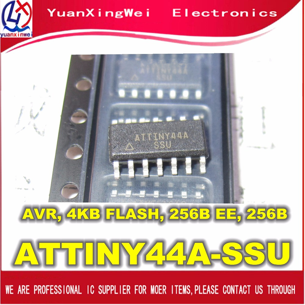 Free Shipping  10pcs/lot ATTINY44,ATTINY44A,ATTINY44A-SSU, SOP14,New Original