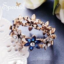 Специальные модные цветочные браслеты и Классические хрустальные