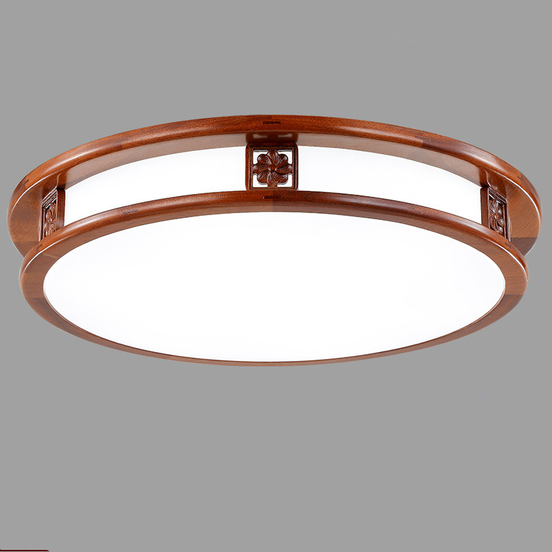 another chance c054f 9a7b6 US $124.32 26% OFF|Creative LED Flushmount Light Round LED Ceiling Light  Lamp 36w Warm White Wood LED Ceiling Lamp for Living Dinning Room-in  Ceiling ...