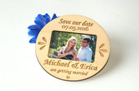 Save The Date Photo Magnet Rustic Personalized Wood Save The Date Wedding Invitation Card RASP Card