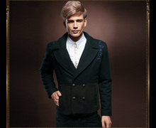 Free Shipping New fashion male casual Men's long sleeved suit menswear Winter Palace Metrosexual thickening coat 13063 on sale