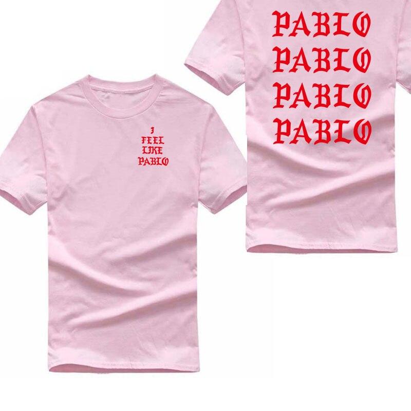 Kanye West Pablo   T     Shirt   Men I Feel Like Pablo Printing Short Sleeve Anti Season 3   T  -  Shirt   Hip Hop Club Social Rapper Tee Tops