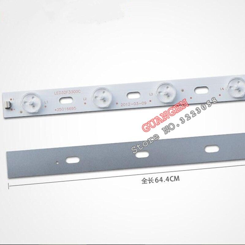 50PCS/LOT 32 inch LED TV Backlight Lens Strips LED32F3300C 35016695 IC-BKKL32D019 for 32'' Konka 12-LEDs 640mm