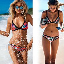 Bandeau Bikini Thong Girls Bikini Neoprene Plavky 2016 Women Two Piece Swimsuit Mayokini Calzedonia Whole Bathing Suit Swim Wear