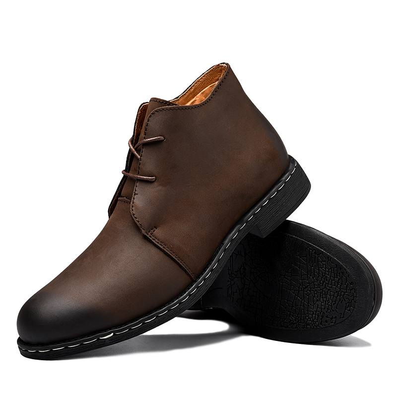Mode Suède Cuir marron Cheville High Taille Bottes Ramialali De 47 Main En Vache Up Dentelle Grande 39 2018 Top Chaussures Noir Hommes R53jL4Aq